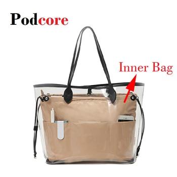 Makeup Bag Organizer Insert Women Cosmetic bags Travel Pockets Handbag Maleta de Maquiagem - discount item  11% OFF Special Purpose Bags