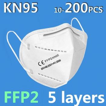 10 PCS KN95 Masks Reusable Anti Dust KN 95 Ffp3 Face Mask 5-Layers Mascarillas Mouth Mask Filtering Ffp2 Masks Respirator