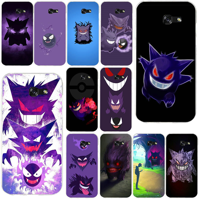 Pokemons Go Gengar Sinister For Samsung Galaxy J1 J2 J3 J5 J7 A3 A5 A7 2015 2016 2017 Coque Bags Silicone Soft Cell Phone Cases image