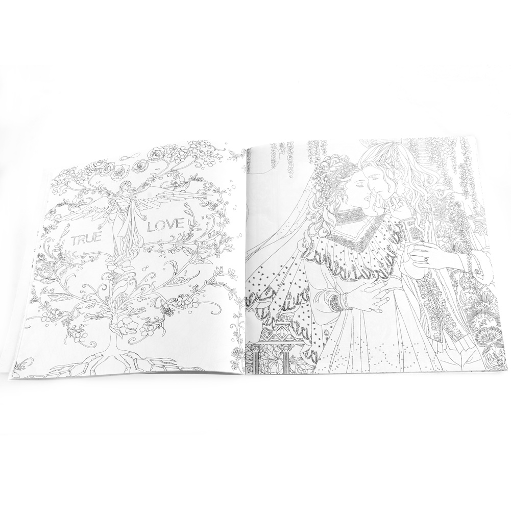 25*25CM Fairy Tales And Magical Dreams Children Adult Graffiti Coloring Book AXYF