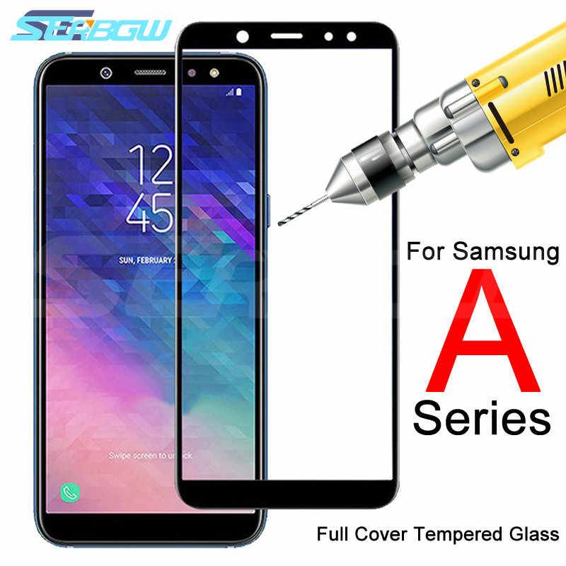 9D Protective Glass on For Samsung Galaxy A3 A5 A7 2016 2017 Glass Cover A6 A8 Plus A9 2018 Tempered Screen Protector Glass Film