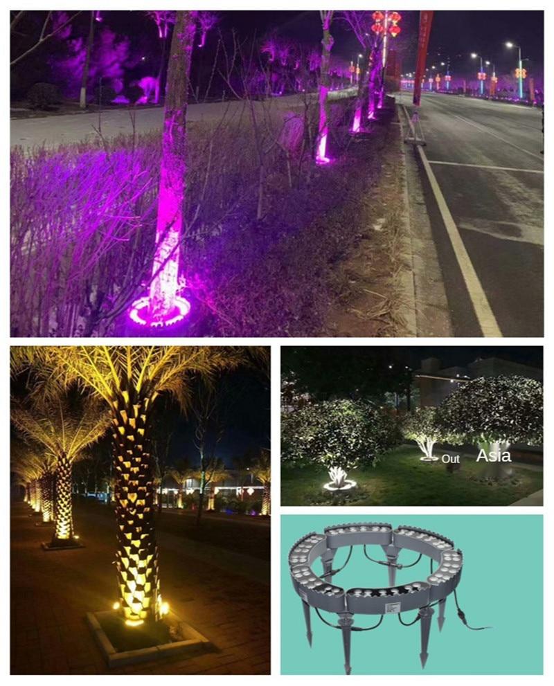 Luz do jardim colunas decorativas pilares led