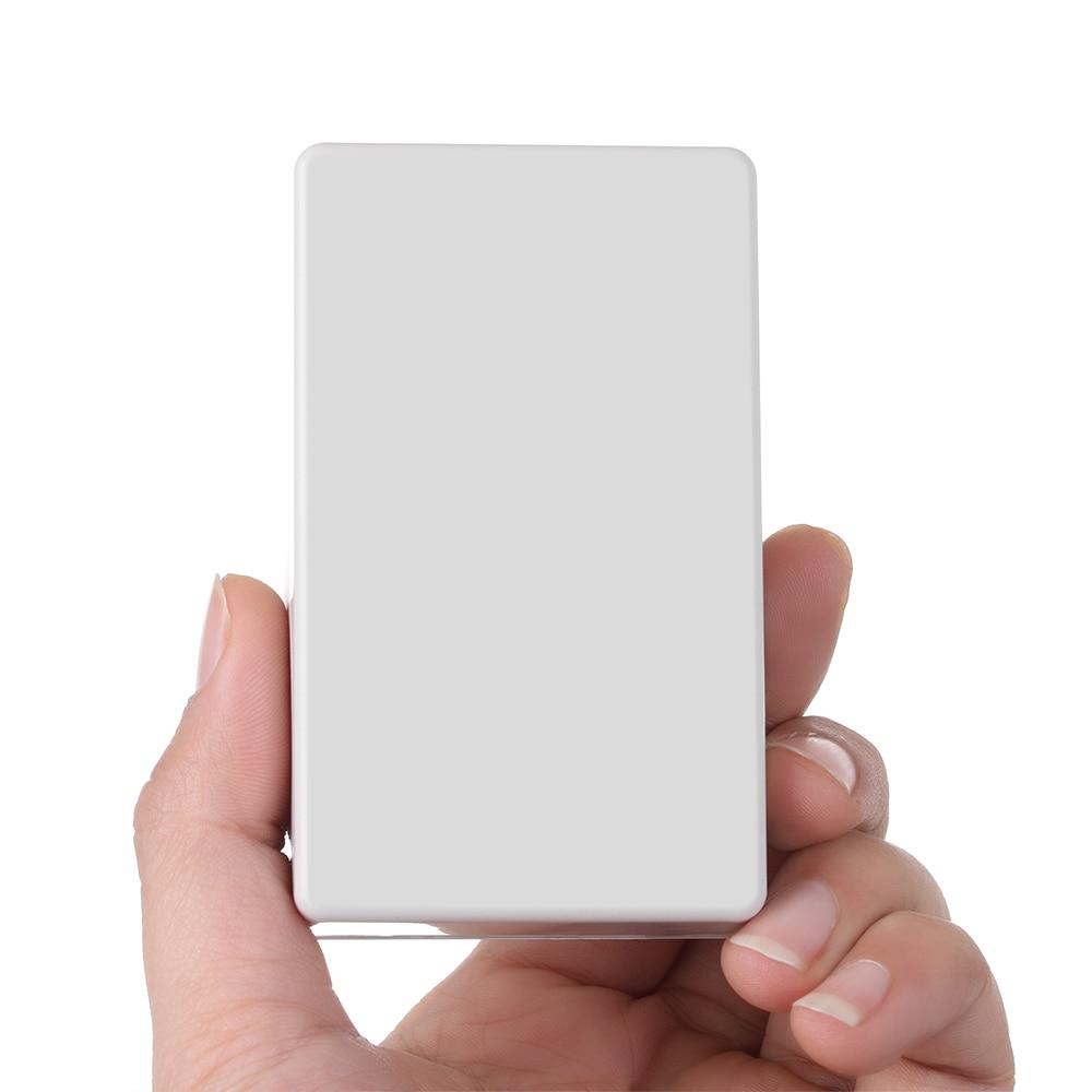 Качественный ABS пластиковый ящик для проекта водонепроницаемый DIY корпус чехол для инструментов чехол для хранения 70/100 мм корпус коробки электронные принадлежности - Цвет: white