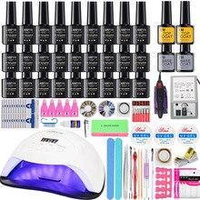 27/18/12 Color Gel Nail Polish Varnish nail Kit with 36w/54w/84w Led Uv Nail Lamp Kit for Manicure Set Acrylic Nails Art Tools