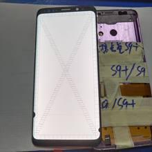 Punkt und linie Einzel wahl AMOLED Für Samsung Galaxy S9 G960 G960f Defekt Lcd Display Touchscreen Digitizer Kein Rahmen