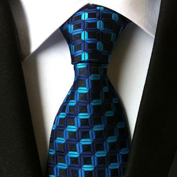 YISHLINE Classic 100 jedwabne męskie krawaty krawaty 8cm w kratę w paski krawaty dla mężczyzn Business Luxury krawaty na wesele Gravatas tanie i dobre opinie WOMEN Chłopcy Dziewczyny Moda SILK Dla dorosłych Szyi krawat Jeden rozmiar Plaid 100 New High Density Handmade Ties 100 silk Jacquard Woven