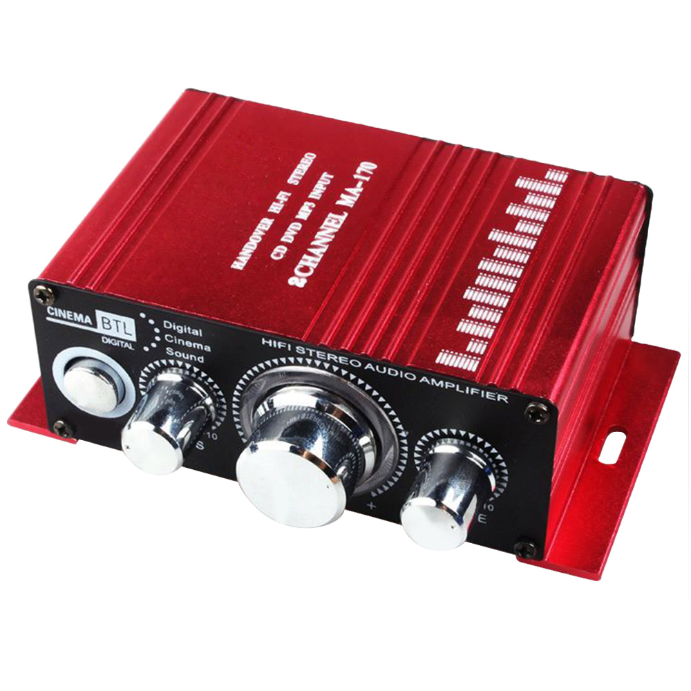 Car Amplifier Mini Computer Bedside Amplifier Clear Sound Ultra Low Noise MP3 Speaker 2CH DC 12V 20W Car amplifier New Hot Sale