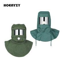 Jateamento de areia tampa anti equipamento à prova de poeira vento respirador jateamento capacete suprimentos pintura máscara protetora