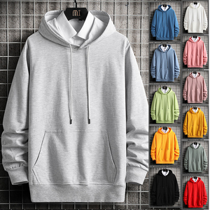 Hooded Hoodies Cotton Swearshirts Man Big Pocket Fashion Pure Mens Hoodie Tracksuits Hip Hop O-neck Pullover Grey Hombre Clothes