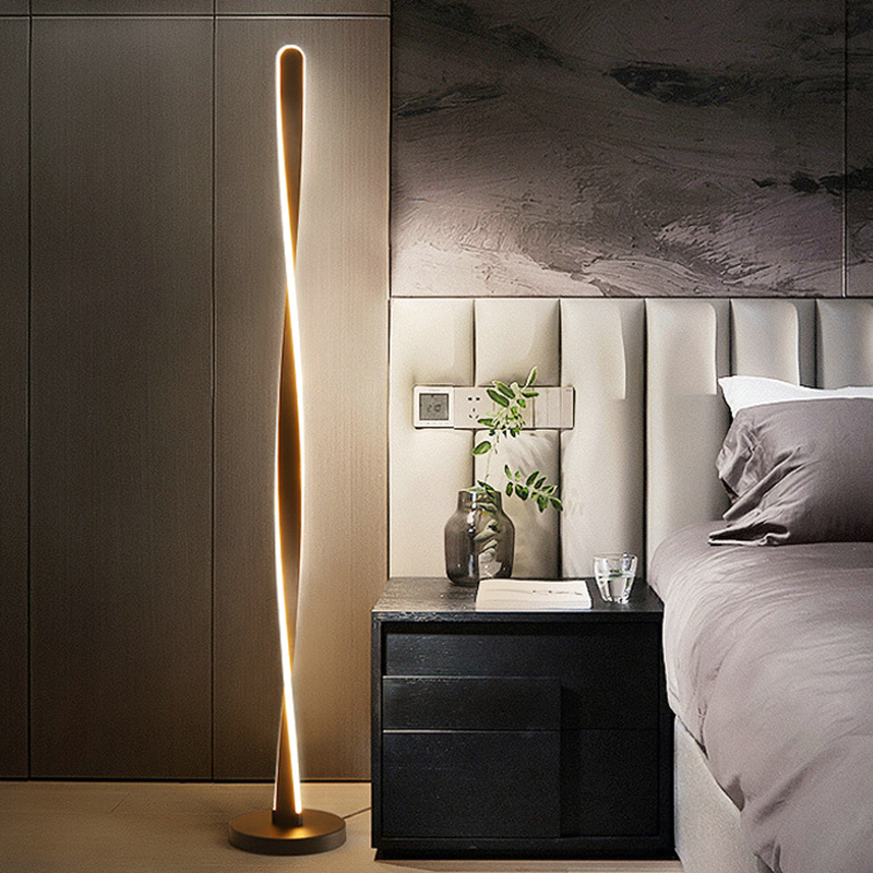 Modern Free Standing Lamps For Living Room Aluminum Floor Lamp Study Beside Lamp Stand Home Deco Lamp Floor Led Dimmable Lights
