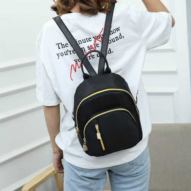 Yeni FashionWomen kızın mini moda okul siyah sırt çantası seyahat omuz çantası sırt çantası