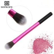 1Pcs Small Eyeshadow Brush Single Pink Aluminum Tube Eye Makeup Brush
