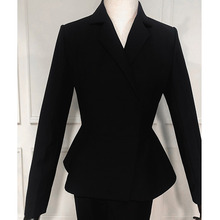 Suits Women's Slim Women's Office Business Formal Wear Formal Suits 2 Piece Set Black White Women's Suit
