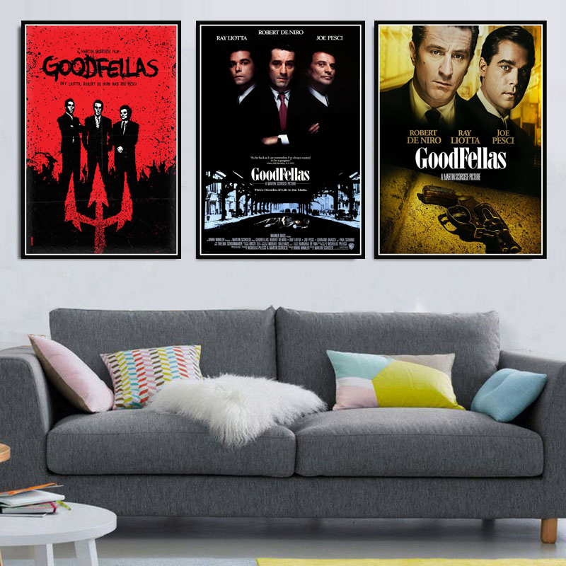 <font><b>Poster</b></font> Prints Hot Gift Classic Movie Goodfellas <font><b>Gangsters</b></font> Godfather Art Canvas Painting Wall Pictures Home Decor quadro cuadros image