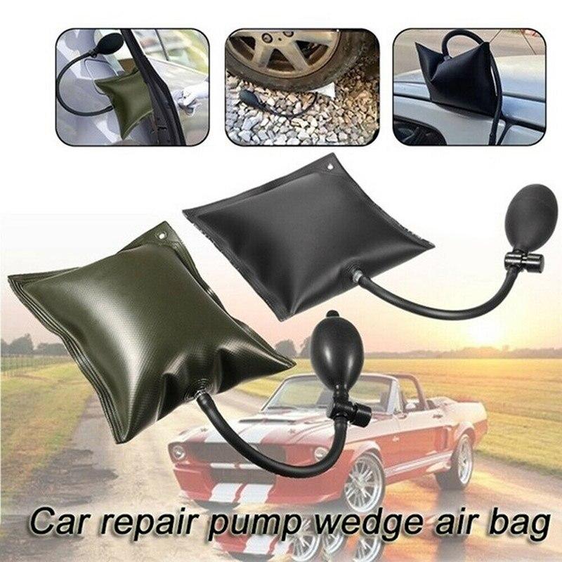 Nova instalação da janela da porta almofada de ar ajustável liga alumínio rápido posicionamento airbag carro almofada multifuncional ferramenta