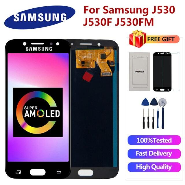 $ US $28.57 Super AMOLED For Samsung Galaxy J5 2017 J5 Pro LCD J530 J530F J530M SM-J530F J5 Pro Display LCD Touch Screen Digitizer Parts