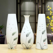 Art ceramic vase Living room TV cabinet wine cabinet furnishings home decorations ornaments porch soft art ceramic vase new chinese zen ceramic pure copper ornaments living room tv cabinet entrance crafts home model room soft decorations