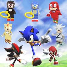 Toys Figures Building-Blocks Sonic the Hedgehog fangs and the Secret Rings Team Speed Star Team Dark Super Hyper Dark Sonic(China)