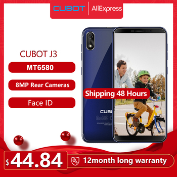 Купить Cubot J3 Смартфон Google Android Go Face ID 5 дюйм18:9 полный Экран MT6580 Quad-Core 1 Гб + 16 Гб Телефон Dual SIM карты 2000 mAh 3G сети Хороший подарок
