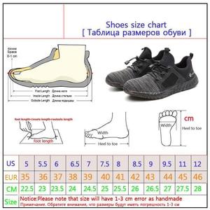 Image 5 - التسليم المباشر غير قابل للتدمير رايدر أحذية الرجال والنساء الصلب تو الهواء أحذية السلامة مكافحة ثقب العمل رياضية تنفس أحذية