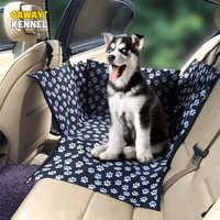 Cawayi canil à prova dwaterproof água animais de estimação portadores do cão capa de assento do carro esteiras hammock coxim transporte para cães perro autostoel hond