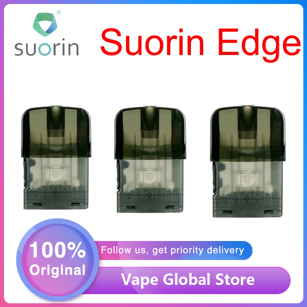 1pc/3pcs/10pcs Original Suorin Edge Pod Cartridge 1.5ml 1.4ohm Coil Mouth To Lung Leakage-proof Design For Suorin Edge Pod Kit