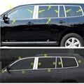 Автомобильная палка из нержавеющей стали Стекло окно гарнир столб колонна отделка капот для Toyota Highlander 2008 2009 2010 2011 2012 2013 2014