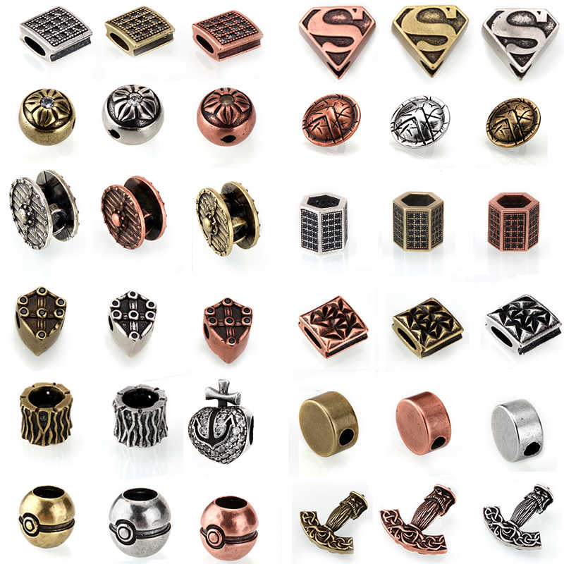 Metal Spacer Beads Spacers Plating Gold/Silver Color Loose Bead Findings Diy Jewelry Making Bracelet Earring Fashion Accessories