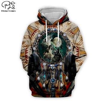 Men indian native Wolf Full Print 3d hoodie harajuku sweatshirt zipper coat Unisex streetwear Jacket Tracksuit women pullover 13 men women indian native skull printed 3d hoodies harajuku sweatshirt zipper coat unisex streetwear jacket tracksuit pullover 10