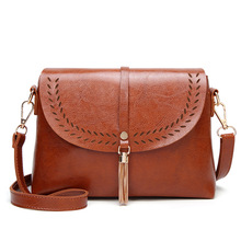 New Vintage Crossbody Bags 2019 High Quality PU Leather Women Shoulder Messenger Bag Tassel Ladies Handbag Mini Flip bag bolsas