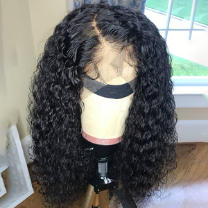 Lace Front Human Hair Wigs Curly Brazilian Remy Hair Wigs Pre Plucked With Natural Baby Hair Beauty Texture Bleached Knots JKO(China)