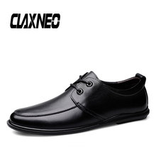 CLAXNEO Man Shoes Genuine Leather Dress Shoe Clax Male Derby Footwear Slip on Moccasin Loafers Boat
