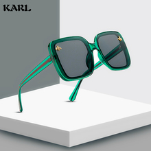 Fashion Women Bee Sunglasses Retro Square Sunglasses Plastic