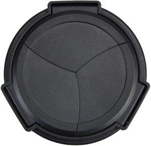 Image 2 - JJC Noir Argent Auto Lens Cap pour Panasonic LUMIX DMC LX100 et LEICA D LUX (Typ 109) Caméra