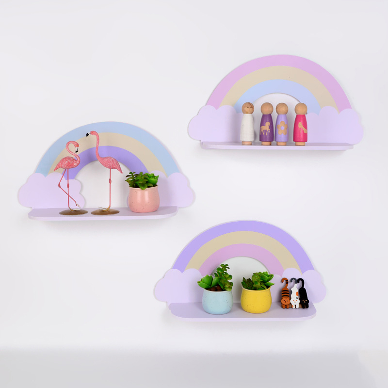 Clould Shelf Wooden Could Wall Shelf Kids Room Decoration Wooden Cloud Shelf For Children Decoration JJJSN11495
