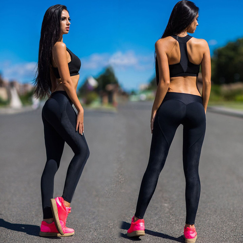 Sexy Push Up Leggings Sport Women Fitness Gym Clothing Work Out Black Jeggings Pants Legins Activewear Sportleggings Leggins