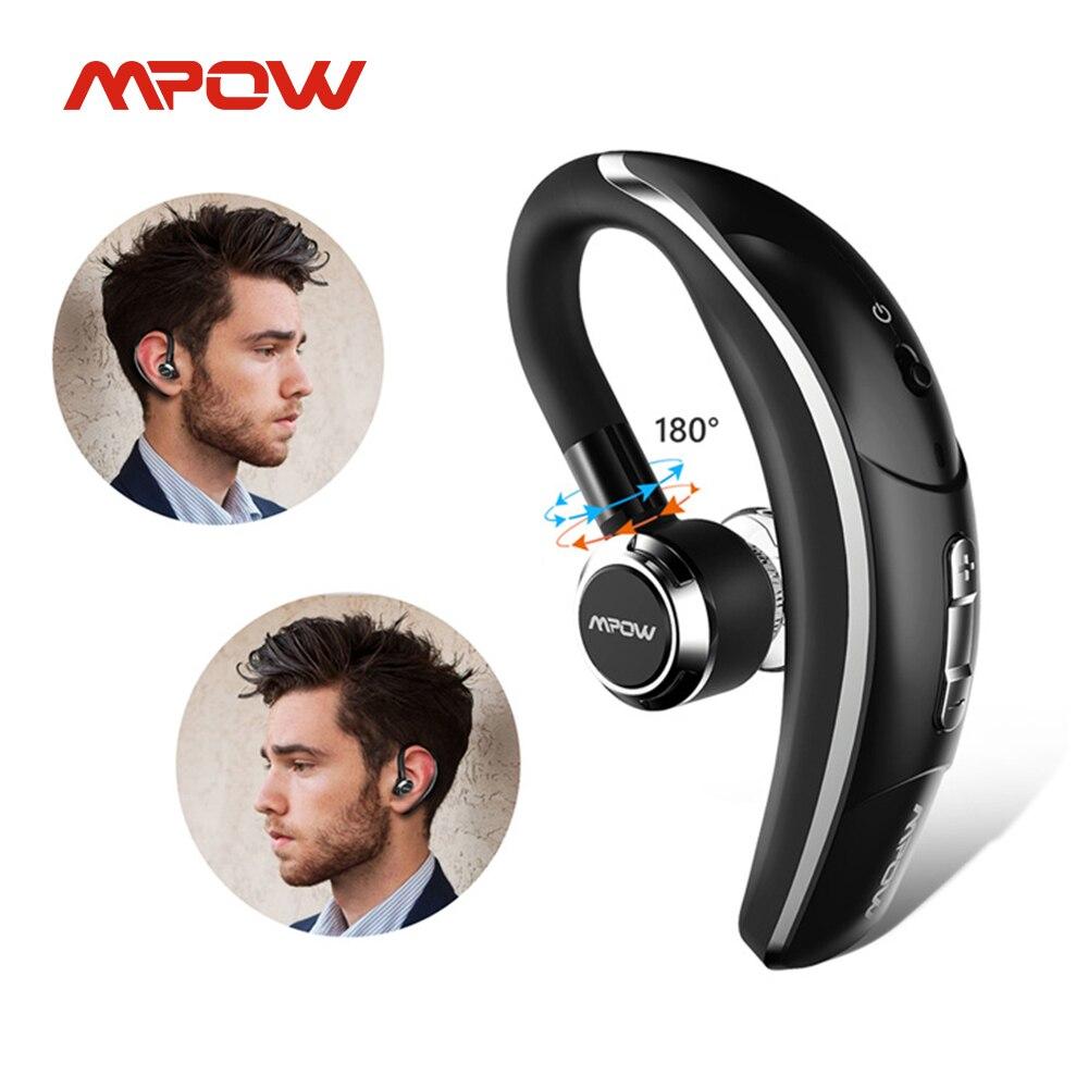 Mpow BH028 Беспроводной одиночный наушник для автомобиля Портативный громкой связи Bluetooth 4,1 180 вращения Bluetooth наушники с микрофоном для мобильно...