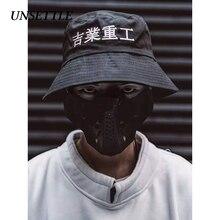 Unsettle 2020SS原宿中国刺繍漁師帽子綿ファッションカジュアル帽子男性/女性調整可能な太陽キャップヒップホップ帽子