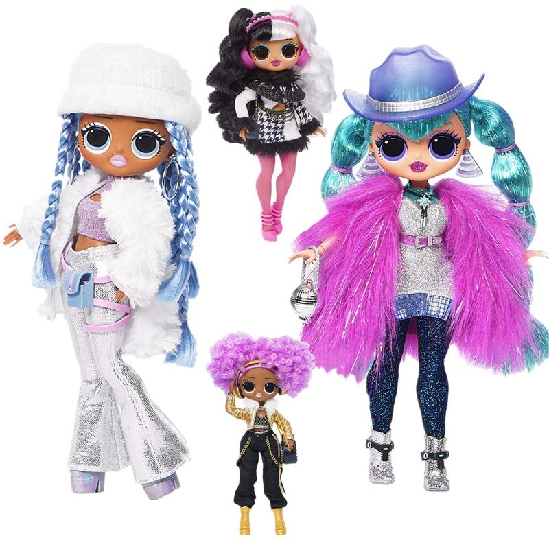 4 Models 27cm L.O.L Surprise! OMG Winter Disco Dollie LOL Doll Fashion Doll & Sister