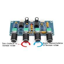 цена на Digital Amplifier Board Preamp NE5532 Pre-amp Tone board With Treble Bass Volume Adjustment Pre-amplifier Tone Controller