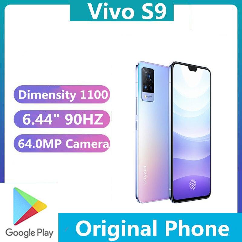 DHL Быстрая доставка Vivo S9 5G Android телефон Dimensity 1100 4000 мА/ч, 33 Вт Супер Зарядное устройство 6,44