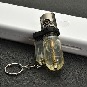 Бутановая струйная Зажигалка для ключей, портативная распылительная зажигалка, компактная Зажигалка для сигарет, турбо ветрозащитная труб...