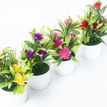 Artificial Potted Simulation Small Lotus Flowers Fake PU Water Lily DIY Home Garden Table Decoration Lotus Plant Gift Home Decor