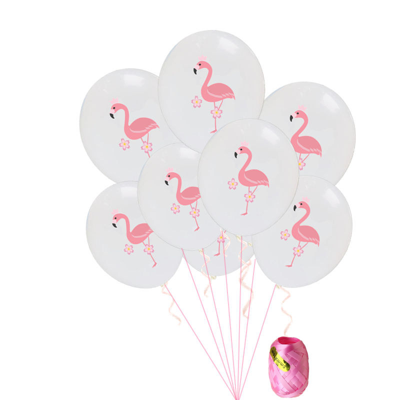 10pcs Pink Flamingo Balloons with Rope Jungle Theme Birthday Party Decorations Adult Outdoor Wedding Balloons Valentine 39 s Day in Ballons amp Accessories from Home amp Garden