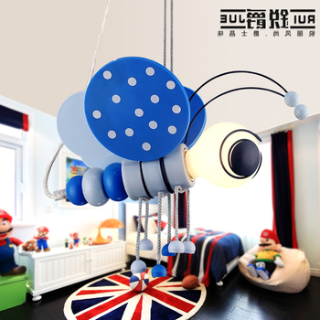 Cartoon Character Children's Room Light Simple Pendant Lamp Led Lamp Boy Bedroom Lamp Bedside Mediterranean Lighting Bed Ing