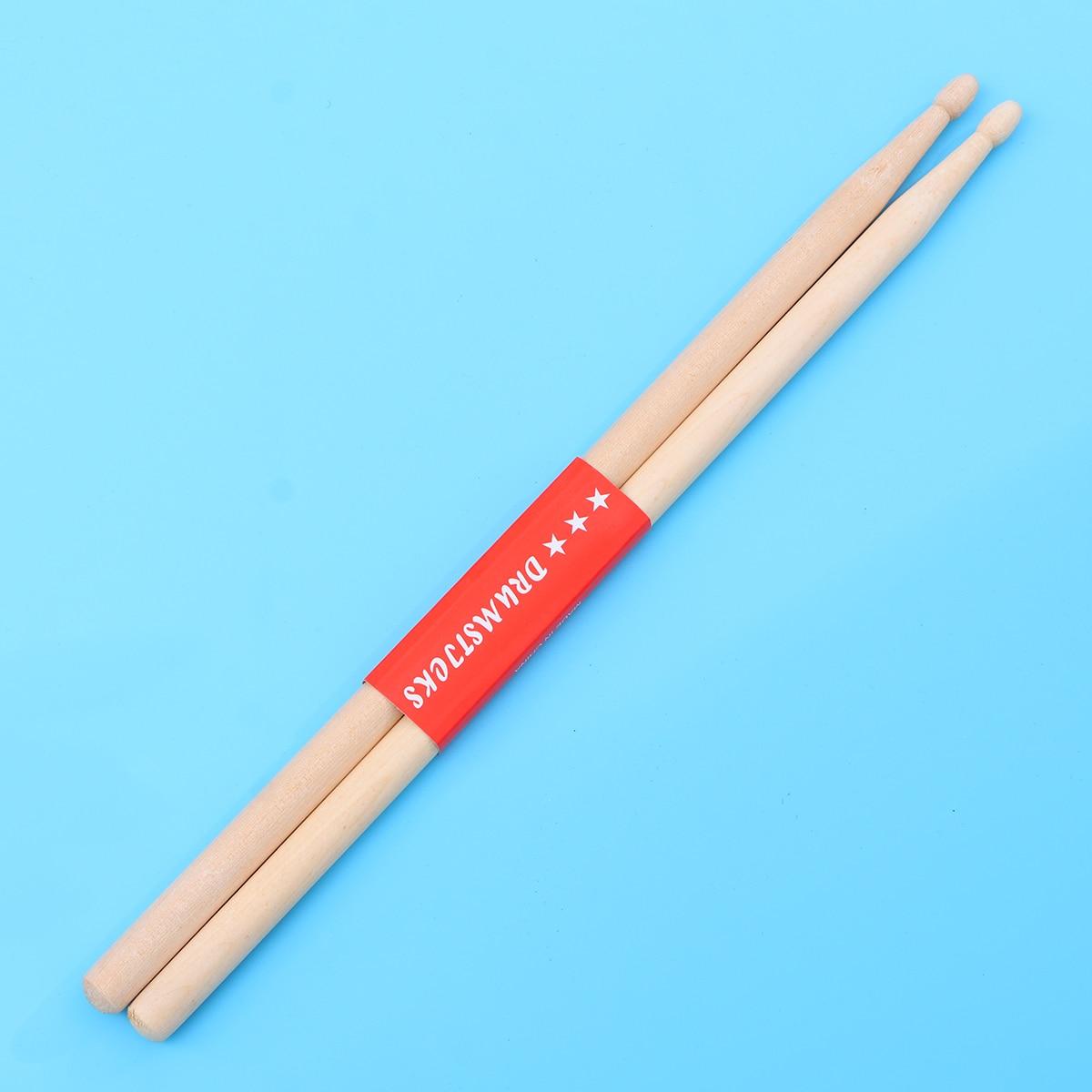 Pair Of Heavy Wooden 2B Drumsticks Drum Sticks Percussion Drum Stick