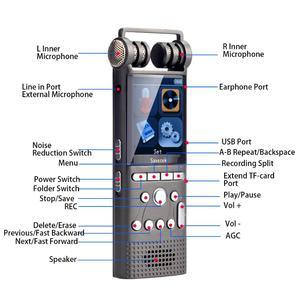 Image 4 - מקצועי קול הופעל אודיו דיגיטלי קול מקליט 16GB 8GB 32GB USB עט ללא הפסקה 100hr הקלטת PCM 1536 kbps תמיכה TF כרטיס