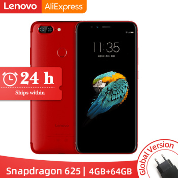 Global Version Lenovo S5 K520 4GB RAM 64GB ROM Smartphone Snapdragon 625 Octa core Dual Rear 13MP Front 16MP Face ID4K Cellphone
