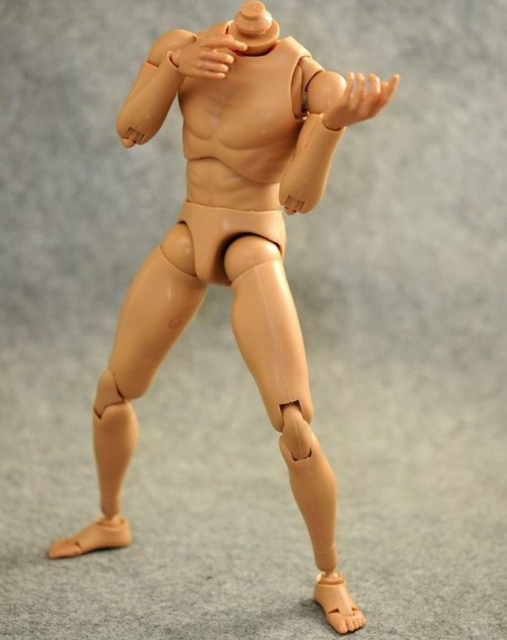 "B001 1//6 Scale Narrow Shoulder Caucasian Male Body Model for 12/"" Action Figure"