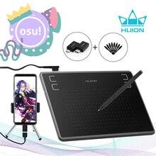 HUION tableta Digital de dibujo gráfico H430P, bolígrafo de firma, tableta de juego OSU con batería, bolígrafo Stylus gratis con regalo